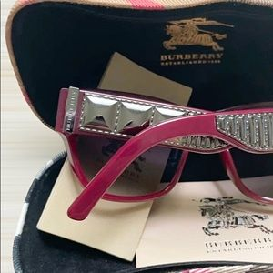 Burberry Red BE4104 Cyclamen Sunglasses